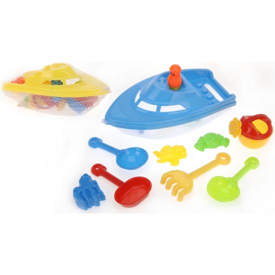 Speelgoed boot met zandspeelgoed 12 delig