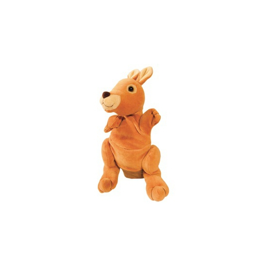 Speelgoed handpop kangoeroe 22 cm