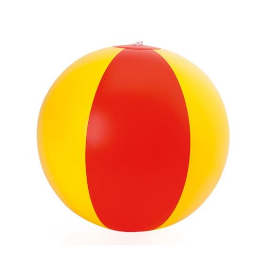 Speelgoed strandbal rood geel