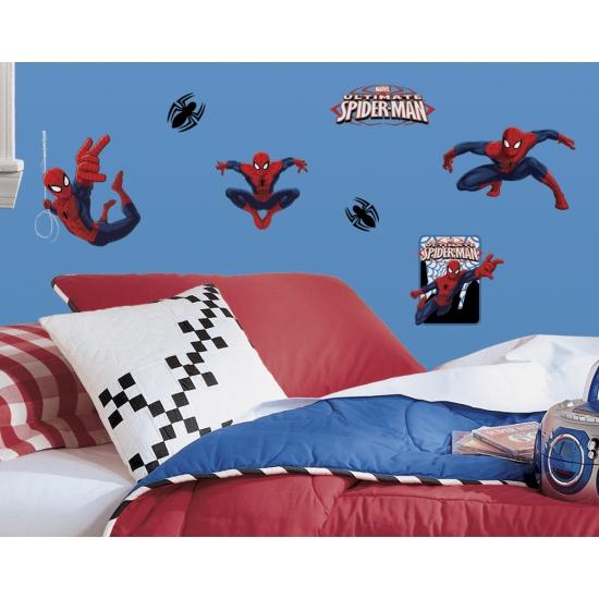 Spiderman stickers voor op de muur
