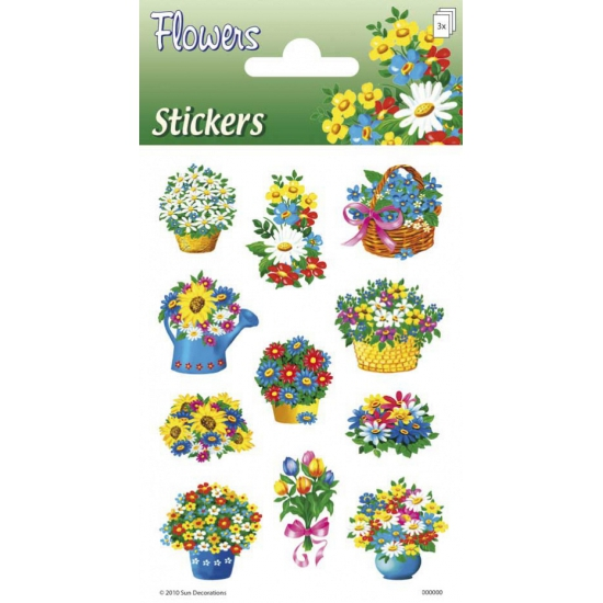 Stickervellen met bloemen