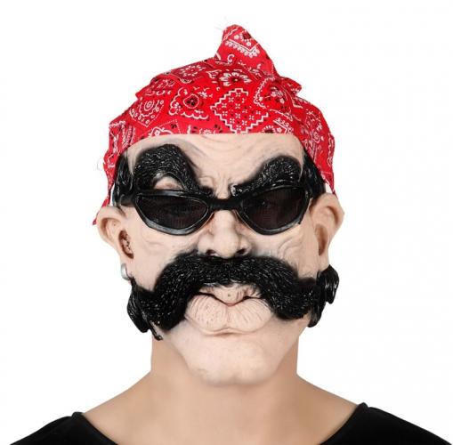 Stoer biker masker met bril