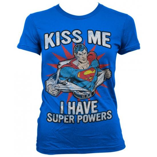 Superman power kleding dames t shirt
