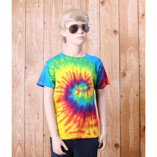 T shirt alternatieve print regenboog voor kinderen