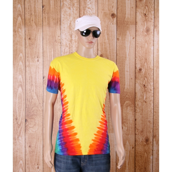 T shirt alternatieve print yellow