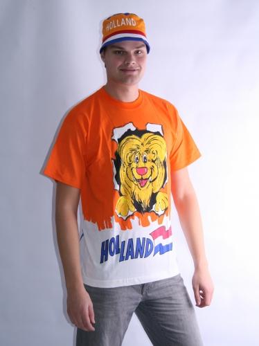 T shirt met leeuw voor volwassenen