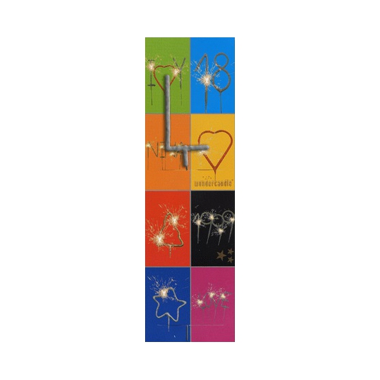Taart sterretjes letter L van 7 cm