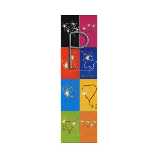 Taart sterretjes letter P van 7 cm