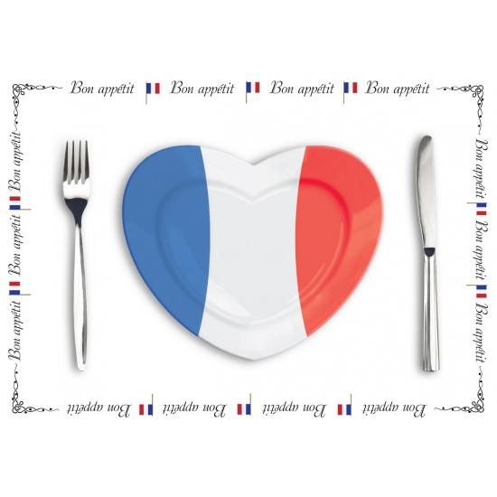 Tafel placemats Frankrijk 500 stuks