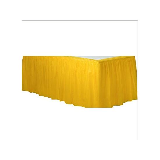 Tafelkleed randen geel
