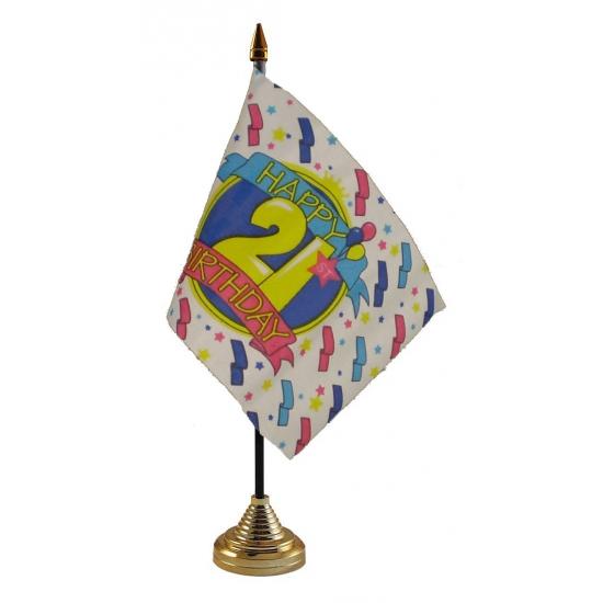 Tafelvlag Happy Birthday 21