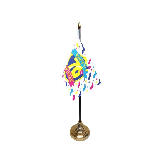 Tafelvlag Happy Birthday 70
