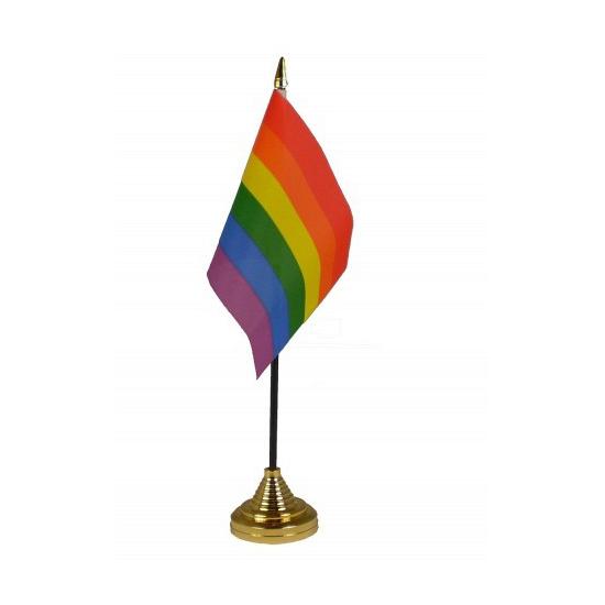 Tafelvlaggen met regenboog