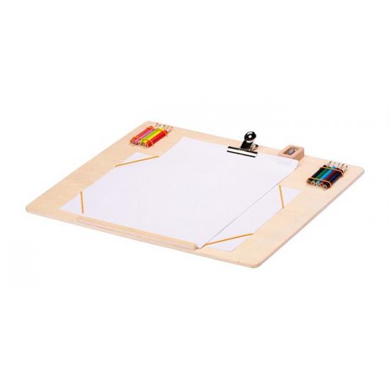 Teken plank met potloden