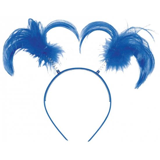 Tiara met blauwe staartjes