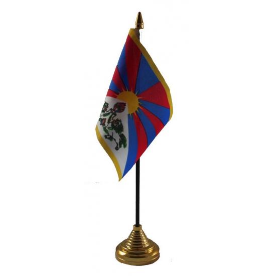 Tibet vlag met standaard