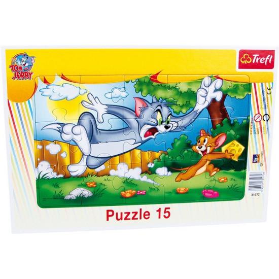 Tom en Jerry puzzel 15 delen