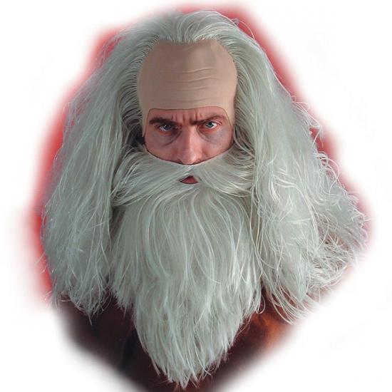 Tovenaar pruik  baard en snor