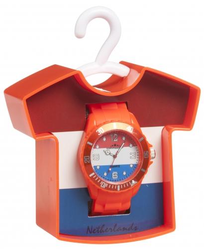Trendy horloge oranje