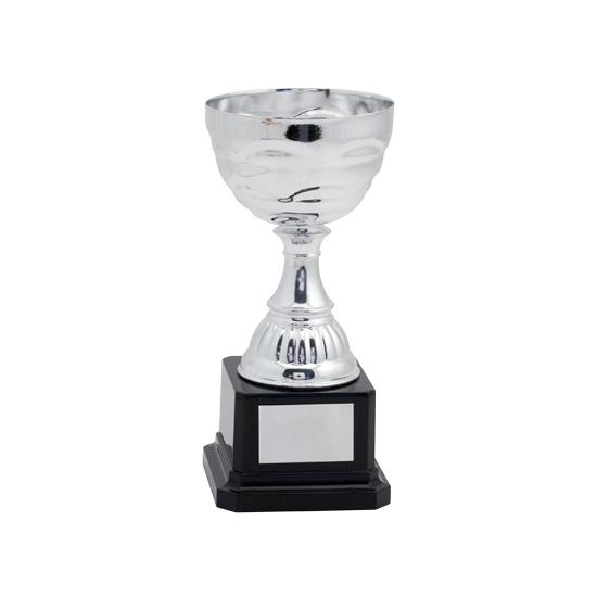 Trofee beker kunststof zilver