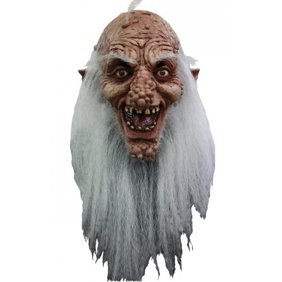 Trol masker met lange witte baard