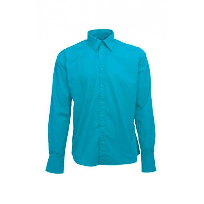 Turquoise katoenen overhemd voor heren