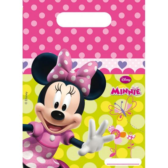 Uitdeelzakjes met Minnie Mouse print 6 stuks