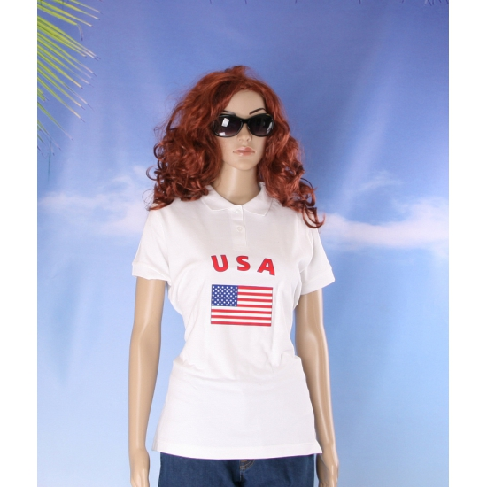USA vlaggen poloshirts