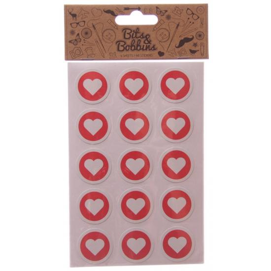 Valentijnsdag hartjes stickers