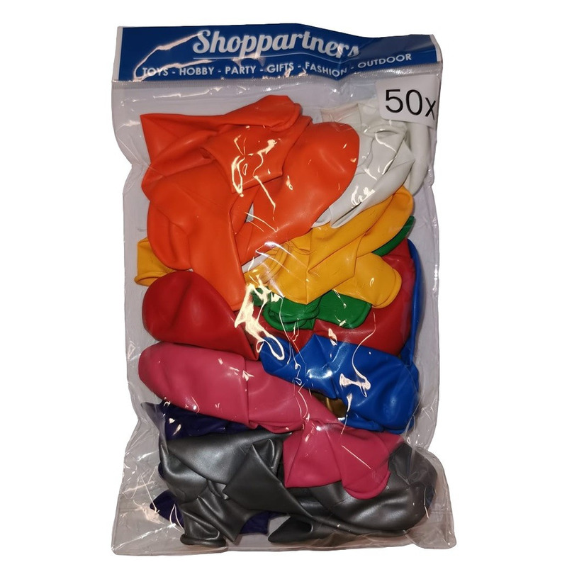 Verjaardag ballonnen gekleurd 50x