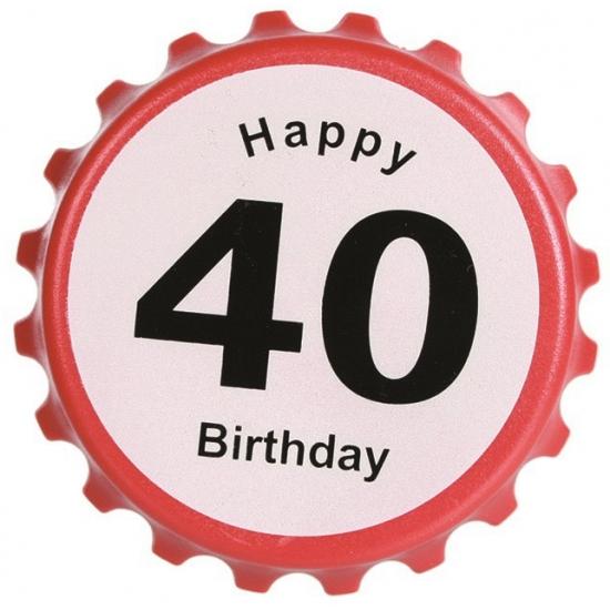Verjaardag bieropener 40 jaar