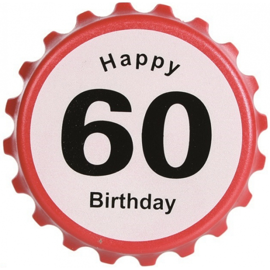 Verjaardag bieropener 60 jaar