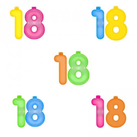 Verjaardag opblaascijfer 18