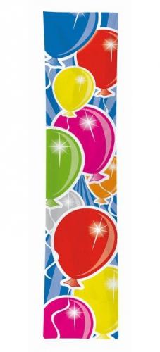 Verjaardags banner ballon gekleurd