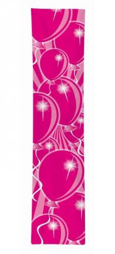 Verjaardags banner ballon roze