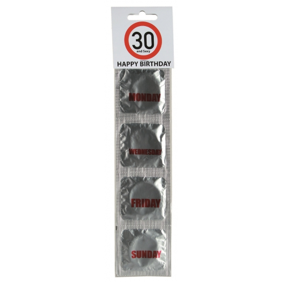 Verjaardags condooms 30 jaar