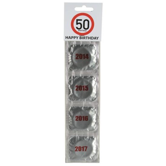 Verjaardags condooms 50 jaar