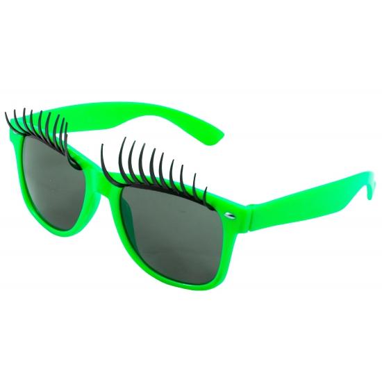 Verkleedbril wimpers groen