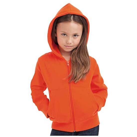 Vest met capuchon kinderen oranje