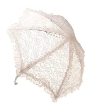 Vintage paraplu wit 70 cm
