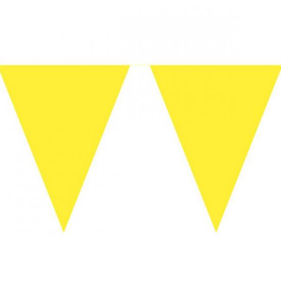 Vlaggenlijn effen geel