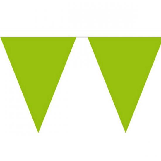 Vlaggenlijn effen groen