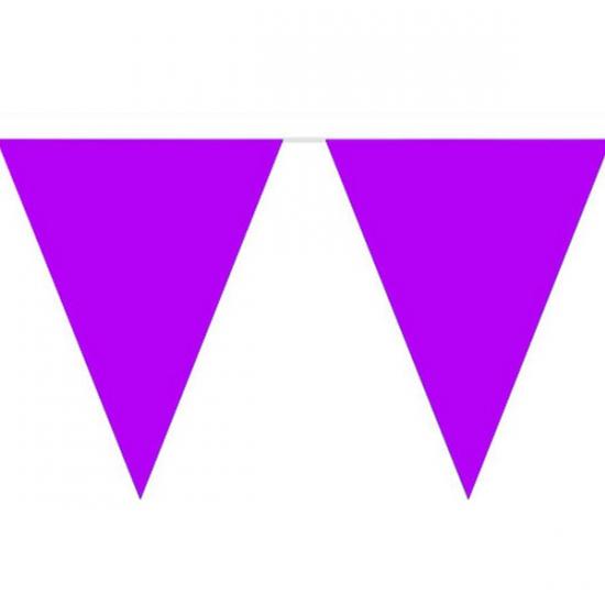 Vlaggenlijn effen paars