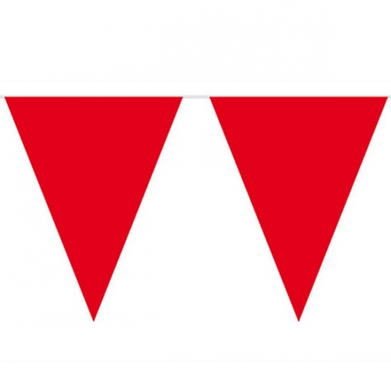 Vlaggenlijn effen rood