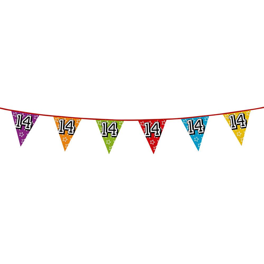 Vlaggetjes 14 jaar feestje