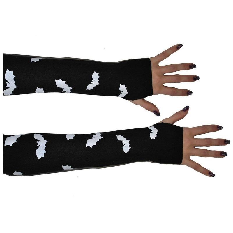 Vleermuis handschoenen zwart