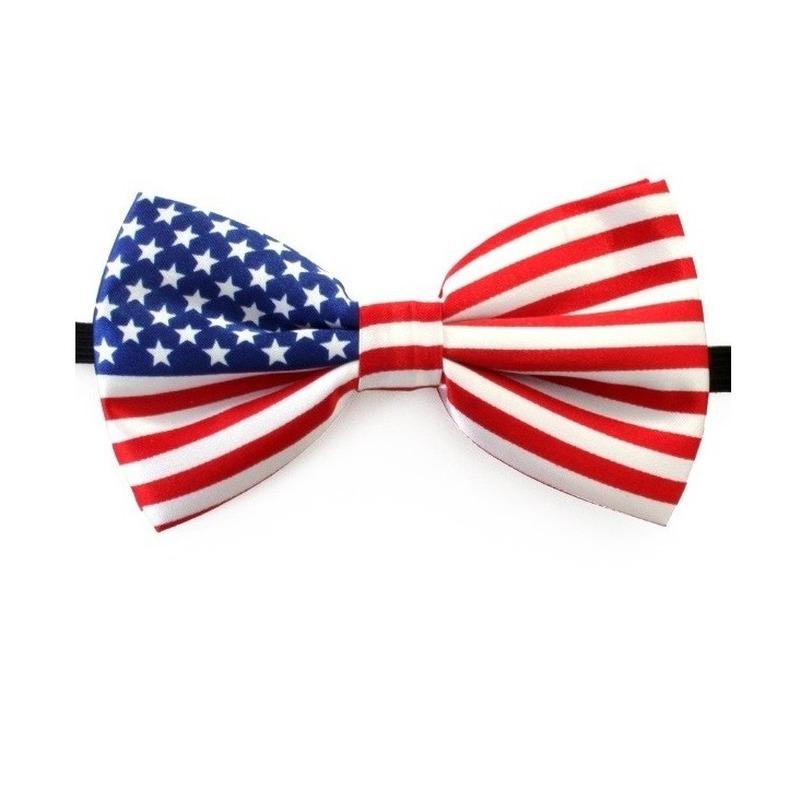 Vlinderstrik met amerikaanse vlag