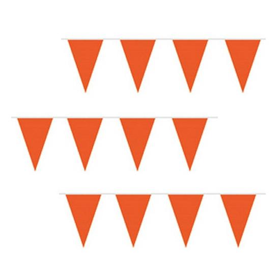 Voordeel prijs oranje vlaggenlijn van plastic