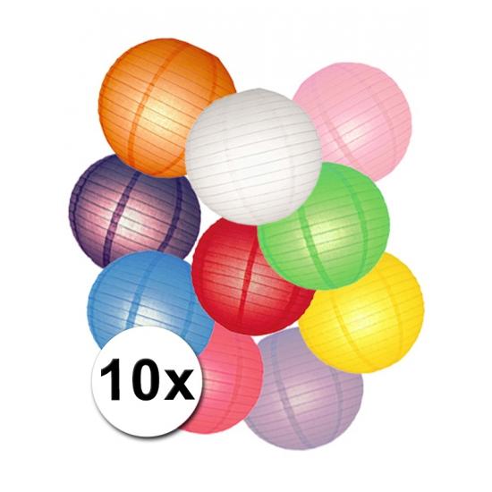 Voordeelset diverse kleuren lampionnen