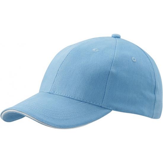 Voordelige lichtblauwe baseball cap